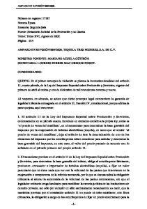 2000. TEQUILA TRES MUJERES, S.A. DE C.V