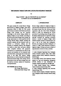 2002 SEISMIC DESIGN SPECIFICATIONS FOR HIGHWAY BRIDGES
