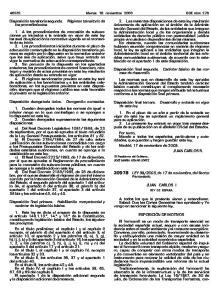 2003, de 17 de noviembre, del Sector