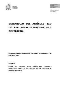 2003, DE 7 DE FEBRERO