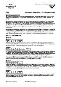 2003 Information Systems GA 3: Written examination