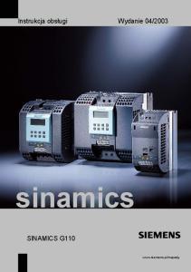 2003. sinamics SINAMICS G110