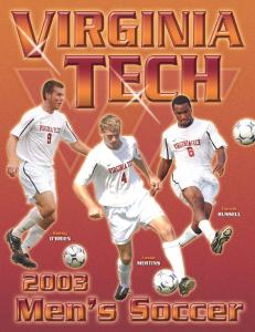 2003 VIRGINIA TECH MEN S SOCCER 1