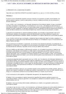 2004, DE 28 DE DICIEMBRE, DE MEDIDAS EN MATERIA SANITARIA