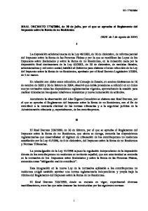 2004, de 30 de julio, por el que se aprueba el Reglamento del Impuesto sobre la Renta de no Residentes