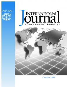 2004 International Journal of Government Auditing, Inc