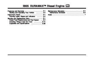 2005 DURAMAX Diesel Engine M