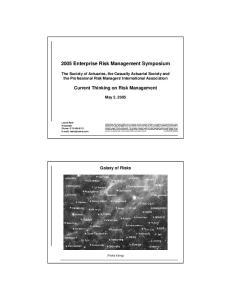 2005 Enterprise Risk Management Symposium