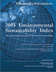 2005 Environmental Sustainability Index