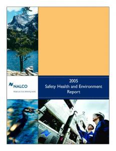 2005 Safety Health and Environment Report