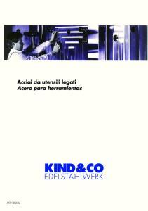 2006. Acciai da utensili legati Acero para herramientas