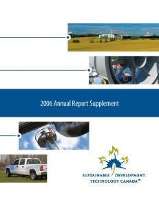 2006 Annual Report Supplement