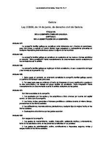 2006, de 14 de junio, de derecho civil de Galicia