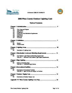 2006 Pima County Outdoor Lighting Code