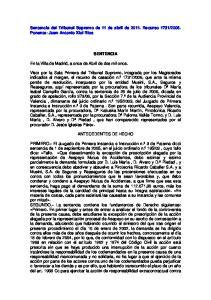 2006. Ponente: Juan Antonio Xiol Rios SENTENCIA