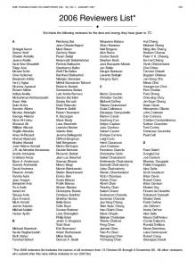 2006 Reviewers List*