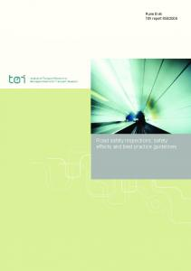 2006. Road safety inspections: safety effects and best practice guidelines