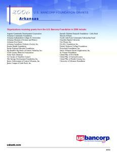 2006 U.S. BANCORP FOUNDATION GRANTS