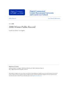 2006 Winter Public Record