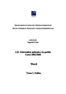 2006 Word Tema 2. Estilos