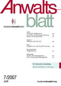 2007 januar deutscheranwaltverein deutscheranwaltverlag kipdfcom - Kostenausgleichsantrag Muster