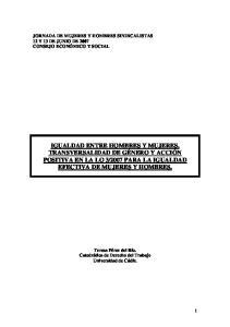 2007 PARA LA IGUALDAD EFECTIVA DE MUJERES Y HOMBRES