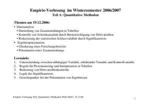 2007 Teil A: Quantitative Methoden