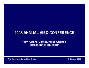 2008 ANNUAL AIEC CONFERENCE