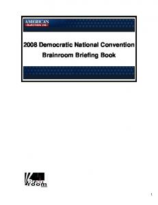 2008 Democratic National Convention Brainroom Briefing Book