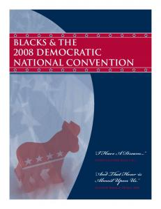 2008 DEMOCRATIC NATIONAL CONVENTION