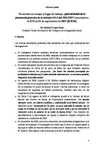 2008. Dr. Manuel Luque Parra Profesor Titular de Derecho del Trabajo y de la Seguridad Social
