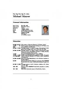 2008 Exchange semester for master s program Computational Intelligence. at City College of New York in New York, NY, USA