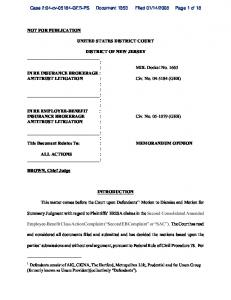 2008 Page 1 of 18 UNITED STATES DISTRICT COURT DISTRICT OF NEW JERSEY