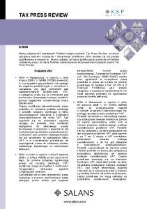 2008. Podatek VAT