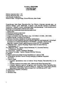2008 z sesji Rady Miasta z dnia r