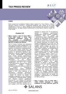 2009. Podatek VAT