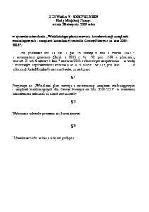 2009 Rady Miejskiej Pieszyc z dnia 28 sierpnia 2009 roku