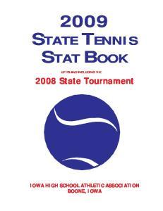 2009 STATE TENNIS STAT BOOK