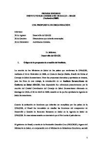 2009) UNA PROPUESTA DE ORGANIZACION