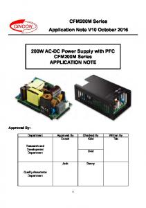 200W AC-DC Power Supply with PFC CFM200M Series APPLICATION NOTE