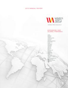 2010 ANNUAL REPORT EXPANDING OUR GLOBAL PRESENCE