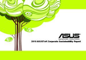 2010 ASUSTeK Corporate Sustainability Report