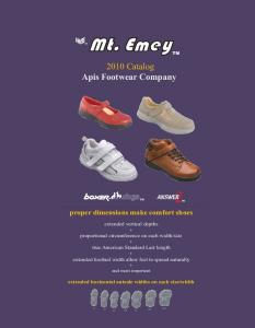 2010 Catalog Apis Footwear Company