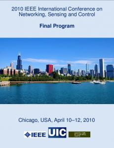 2010 IEEE International Conference on Networking, Sensing and Control. Final Program