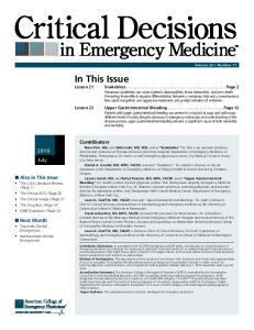 2010 July. n Next Month Traumatic Dental Emergencies Nontraumatic Dental Emergencies