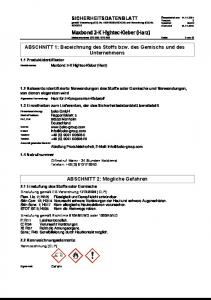 2010. Maxbond 2-K Hightec-Kleber (Harz)
