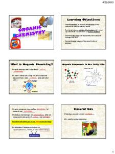 2010. Organic Compounds in Our Daily Life