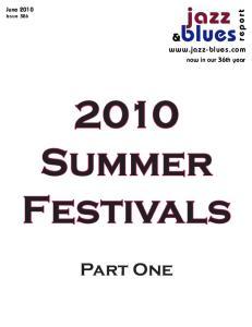 2010 Summer Festivals