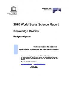2010 World Social Science Report