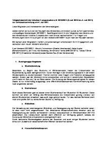 2011 (5.Juli 2010 bis 4. Juli 2011) zur Jahresversammlung am 4. Juli 2011